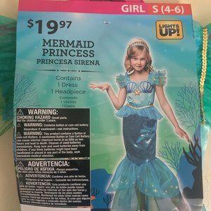 Kids Mermaid Princess Costume